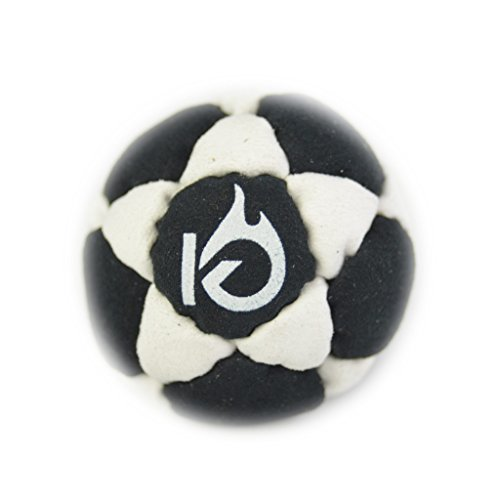 KickFire StarSacks Sand Filled Hacky Sack Leather Footbag | 32 Custom-Made Panels | Bonus Video Quick Start Tips | Best for Kids, Teens and Adults | Available in Six Super Colors