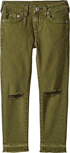 True Religion Kids Girl's Casey Ankle Skinny Jeans in Olive (Big Kids) Olive 16