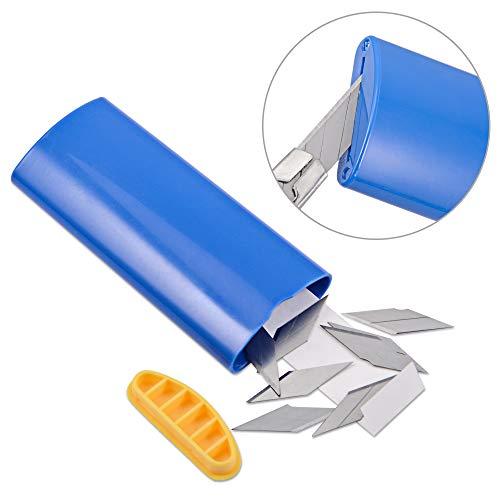 FOSHIO 1PCS Blue 30 Degree Cutter Utility Knives Blade Disposal Case Razor Container Storage Box