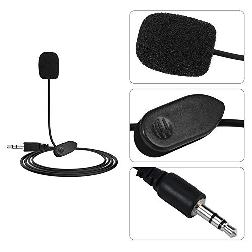 ghfcffdghrdshdfh New Mini Portable 3.5mm Mini Studio Speech Mic Microphone w//Clip for PC Desktop Notebook Lectures Teaching Mic Black