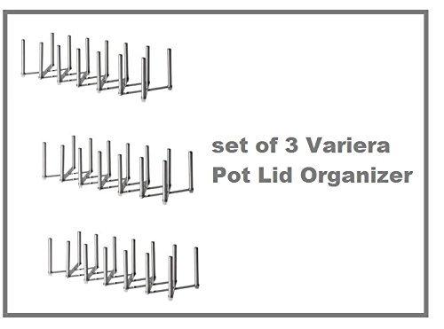New Ikea Variera Pot Lid Organizer Stainless Steel Multi-use Adjustable length - SET OF 3 by IKEA
