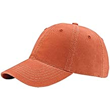 Hats & Caps Shop Low Profile 6 Panel Brushed Cotton Washed Cap - By TheTargetBuys