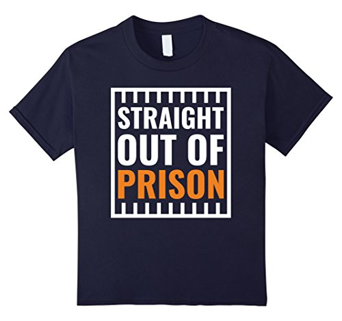 Hip Halloween Costumes Ideas (Kids Straight Out Of Prison Funny Halloween Costume T-Shirt 12 Navy)