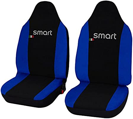 Seat Covers Black Polyester for Smart Fortwo for Two 450 451 452