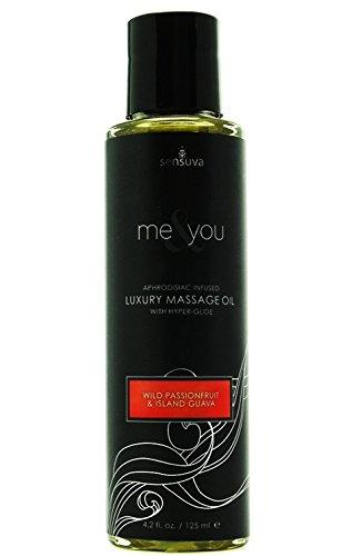 Me & You Massage Oil [Wild Passionfruit & Guava] Sensual Pheromone Infused Luxury Massage Oil; Size 4.2 Oz