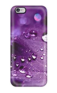 Waterdrop Snap-on Pretty Purple Raindrops Case For Iphone 6 Plus