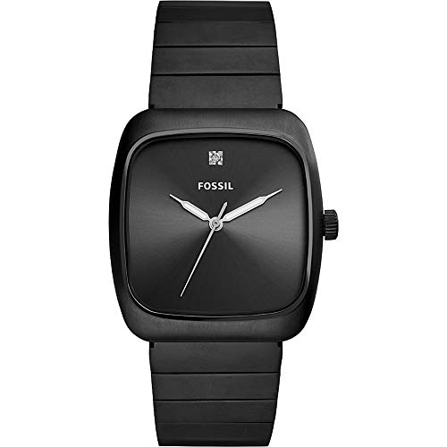 Fossil Men's Rutherford Quartz Stainless-Steel-Plated Strap, Black, 22 Casual Watch (Model: FS5477)