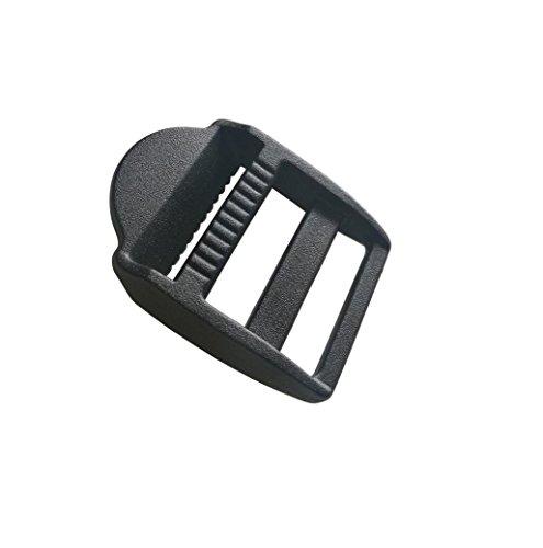 60 Pcs 1'' (25mm) Plastic Tension Locks Triglide for Belt Backpack Camping Bag Belt Suitcase (Black) by LESCA TEK