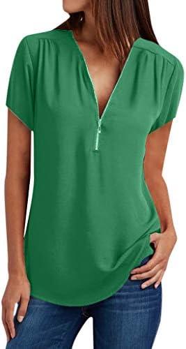 [해외]Clearance 여성용 플러스 사이즈 캐주얼 탑 셔츠 여성용 브이넥 지퍼 루즈 티셔츠 블라우스 티 상의 S-5XL / Clearance 여성용 플러스 사이즈 캐주얼 탑 셔츠 여성용 브이넥 지퍼 루즈 티셔츠 블라우스 티 상의 S-5XL