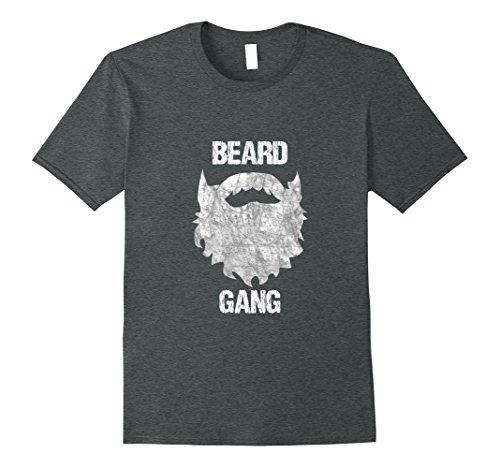 Patch Facial Hair (Mens Beard Gang Mens Facial Hair T shirt XL Dark)