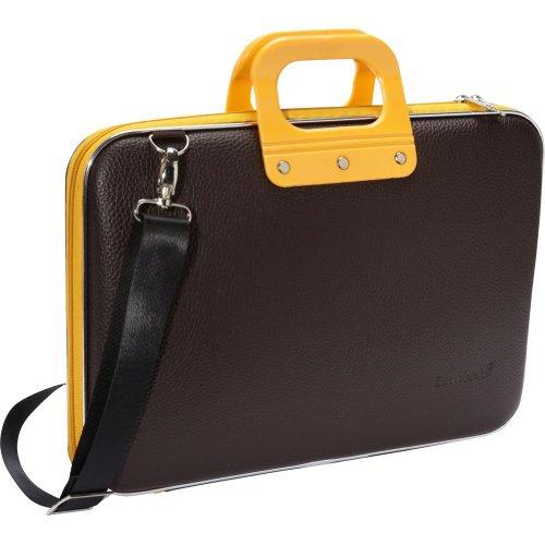 bombata-doppio-15-laptop-briefcase-brown-yellow