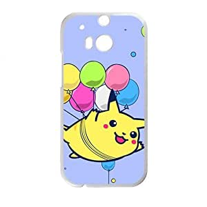 Lovely Pokemon happy Pikachu Cell Phone Case for HTC One M8