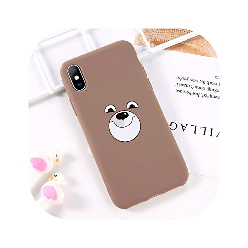 Phone Case for iPhone 6 6s 7 8 Plus X XR XS Max Fashion Cute Cartoon Bear Rabbit Soft TPU for iPhone X Phone Case Cover,T4,for iPhone X