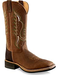 Old West Mens Cowboy Boot Square Toe - Bsm1860