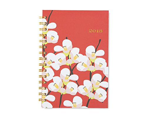 Blue Sky Snow & Graham 2018 Weekly & Monthly Planner, Hardcover, Twin-Wire Binding, 5