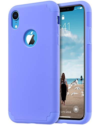 ULAK iPhone XR Case Blue, Slim Fit Hybrid Soft Silicone Hard Back Cover Anti Scratch Bumper Design Protective Case for Apple iPhone XR 6.1 inch 2018, Blue