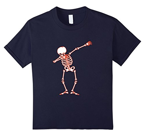 Vampire Slayer Halloween Costumes (Kids Hilarious Dabbing Skeleton Tshirt For Halloween 10 Navy)