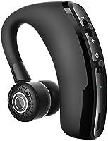 CIC Fone De Ouvido Bluetooth Sem Fio Mini Invisível Único Top Gancho Microfone para Chamadas Profissio Apple e Android, Preto
