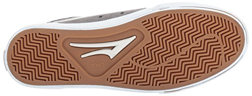 Lakai Ellis Skate Shoe Grigio / Bianco Pelle Scamosciata