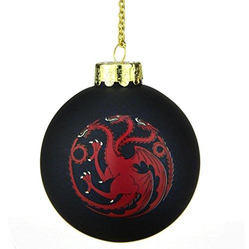 Kurt Adler Game of Thrones glass ball ornament 3.5