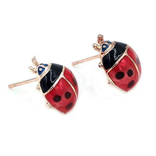 Price comparison product image InspireMe Family Owned Cute Ladybug Stud Earrings