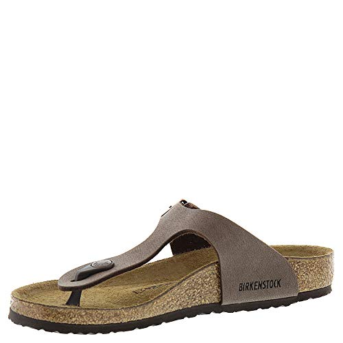 Birkenstock Gizeh Kid's Mocha Birkibuc Sandal 32 N EU (US 1-1.5 Little Kid) by Birkenstock (Image #3)