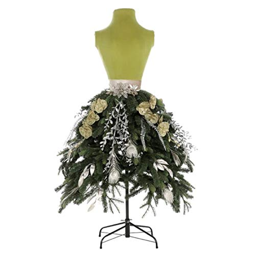 - Holiday 5 ft Unlit Green Lady Dress Form Christmas Tree Mannequin Store Front Commercial Display