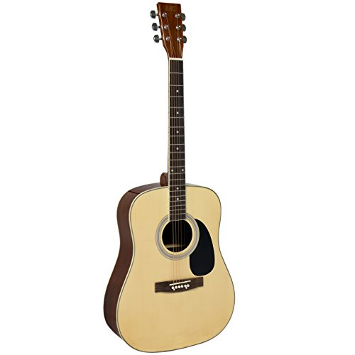 "Acoustic Guitar 41"" Full Size Natural Includes Guitar Case, Strap and More - Image 2"