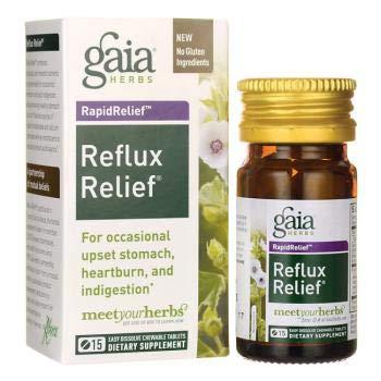 GAIA HERBS Rapid Relief Reflux Relief 45 Tablets