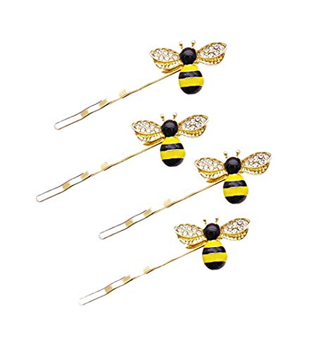 Bee Hairpin Barrette For Girls Hair Clips Honeybee Hair Accessories JA93 (A5-4 Pcs)