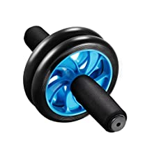 Ab wheel,Patec Ab Roller Wheel for Training,Fitness Wheel & Abdominal Carver to Workout,Exercise & Strengthen Your Abs & Core with Pro Knee Mat to Supplement Your Training