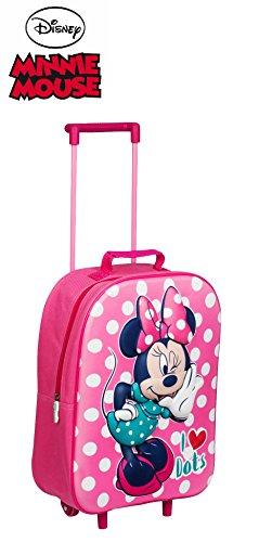 Kids Gepäck Koffer mit Rädern für Kinder Jungen und Mädchen Mehrfarbig Mini Mouse 3D D 11cm H 39cm W 29cm