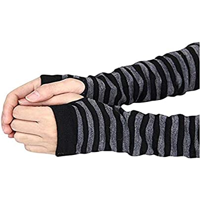 MonbedosArthritis Gloves Knitted Long Sleeves Wristbands Sun Protection and warmthSuitable for Men and Women Autumn and Winter Prevent Arthritis Symptoms Protect Carpal Tunnel amp Hand Black Gray Estimated Price £0.57 -