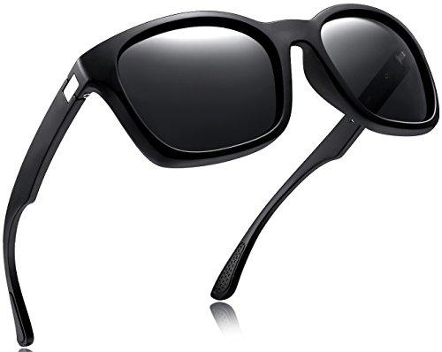 Joopin Unisex Polarized Sunglasses Classic Men Retro UV400 Brand Designer Sun glasses (Matt Black, as the pictures)
