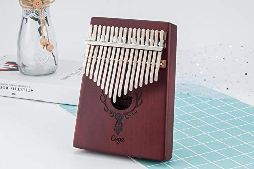 TimberTunes 17 Key Kalimba Thumb Finger Piano Therapy Musical Instrument for Adults Children, Solid Mahogany Wood, Engraved Elk Antler,Tuning Hammer and Music Book, Engraved Keys, Velvet Case, Unique by Timbertunes (Image #2)