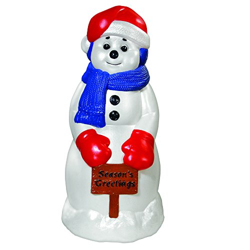 General Foam Plastics Season's Greeting Snowman, 31-Inch (Blow Mold Decorations Plastic Christmas)