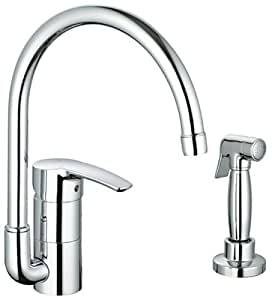 Eurostyle single handle kitchen faucet with side spray touch on kitchen sink faucets - Grohe kitchen faucets amazon ...