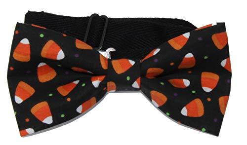 Men's Candy Corn Halloween Pre-Tied Adjustable Cotton Bow Tie Halloween Bow Tie