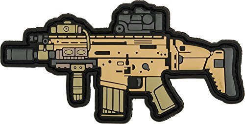 Army Classic Gun (Evike Aprilla Design PVC IFF Hook and Loop Modern Warfare Series Patch (Gun: SCAR-H))