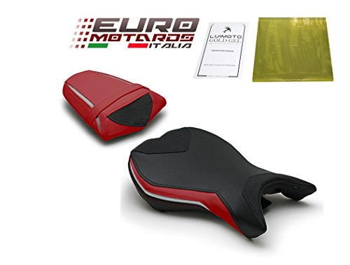Triumph Daytona 675 2013-2017 Luimoto Team Triumph Seat Covers Front & Rear + Gel ()