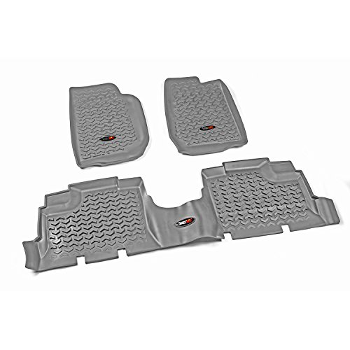 - Rugged Ridge All-Terrain 14987.01 Gray Front and Rear Floor Liner Kit For Select Jeep Wrangler Unlimited Models