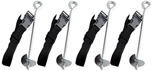 Exacme Trampoline Safety Anchor Kit Heavy Duty Steel Galvanized Accessories Fixing 6180-S001 by Exacme