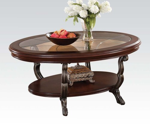 ACME 80120 Bavol Coffee Table, Brown Cherry Finish