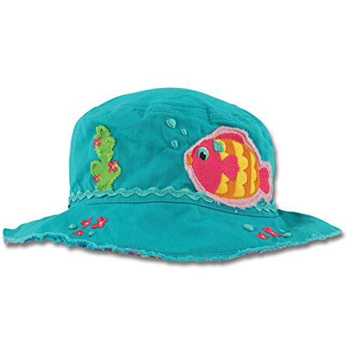 Price comparison product image Stephen Joseph Girls Tropical Fish Bucket Sun Hat and Sunglasses Combo