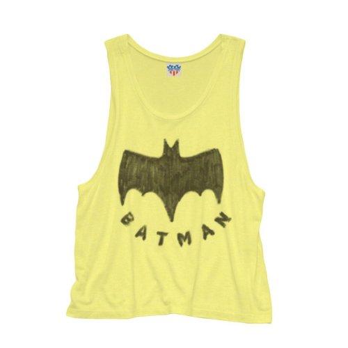 (Junk Food Batman Logo Juniors Neon Yellow Tank Top (Juniors)