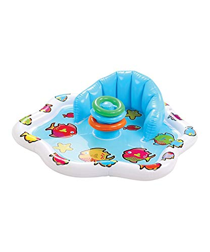 Etna Inflatable Baby Splash Mat with Stacking Rings & Built-in Backrest Infant Water Playmat to Enjoy Summer Fun - Activity for Baby, Toddlers - Easy to Use at The Beach, ()
