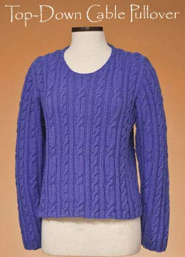 (Top Down Cable Pullover 167 Vermont Fiber Pattern)