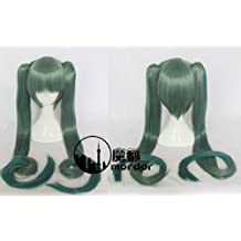 Cheap Cosplay Wig Long Twin Hatsune Miku style Thousand Sakura tails heat resistant cosplay wig lolita-wig wig with net by lincoln