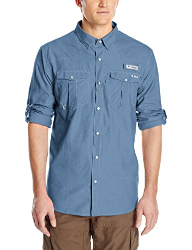 Long Sleeve Oxford Snap - Columbia Sportswear Men's Beadhead Oxford Long Sleeve Shirt, Windswept Oxford, Large