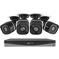 EZVIZ 4K UltraHD 8MP Outdoor IP PoE 4-Cams 4-Ch. Surveillance System with 2TB NVR Storage